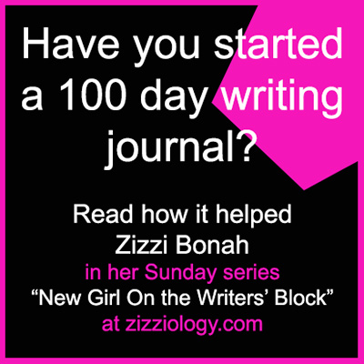 Banner says, have you started a 100 day writing journal?