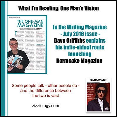 What I'm Reading - Dave Griffiths launching Barmcake mag