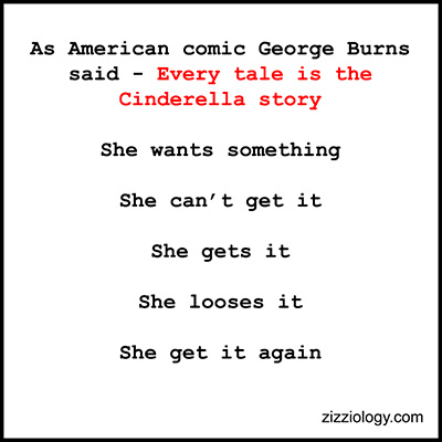 Quote by George Burns - The Cinderella story