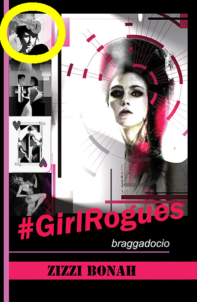 #GirlRogues book cover showing author top left corner