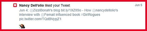 screenshot - Nancy Dell'olio liked Zizzi Bonah's tweet