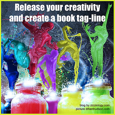 Banner says: Release your creativity and create a book tag-line