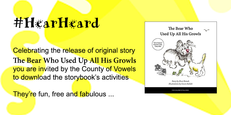 The Bear Who Used Up All His Growls, storybook's activities to download