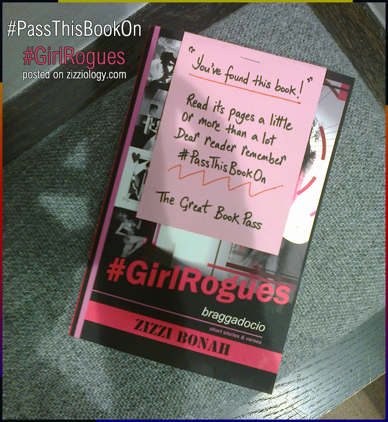 Picture of #GirlRogues book in the Great Book Pass #PassThisBookOn